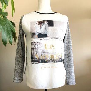 🟡2/$30 | Zara | Soft knit print top